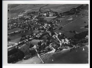 ZZ-1723/ Utting Foto seltenes Luftbild 1938 18 x 13 cm