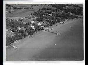 ZZ-1727/ Holzkirchen b. Utting Foto seltenes Luftbild 1938 18 x 13 cm