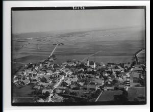 ZZ-1729/ Asch Fuchstal Foto seltenes Luftbild ca. 1938 18 x 13 cm