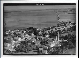 ZZ-1730/ Leeder Fuchstal Foto seltenes Luftbild ca. 1938 18 x 13 cm