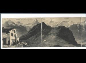 Y15543/ Faulhorn Berner Alpen Schweiz 4-fach Klapp AK ca.1905