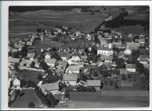 ZZ-1762/ Schwabsoien Foto seltenes Luftbild 1936 18 x 13 cm