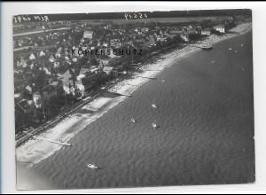ZZ-1752/ Wyk auf Föhr Foto seltenes Luftbild 1939 18 x 13 cm