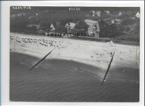 ZZ-1751/ Wyk auf Föhr Foto seltenes Luftbild 1939 18 x 13 cm
