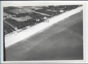 ZZ-1749/ Wyk auf Föhr Foto seltenes Luftbild 1939 18 x 13 cm
