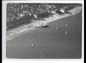 ZZ-1747/ Wyk auf Föhr Foto seltenes Luftbild 1939 18 x 13 cm