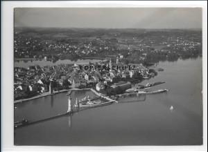 ZZ-1767/ Lindau Foto seltenes Luftbild 1939 18 x 13 cm