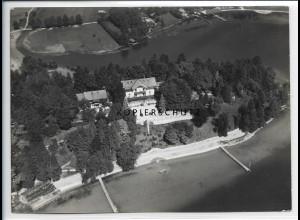 ZZ-1827/ Schliersee Foto seltenes Luftbild 1936 18 x 13 cm