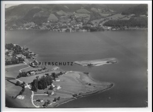 ZZ-1829/ Abwinkl am Tegernsee Foto seltenes Luftbild 1936 18 x 13 cm