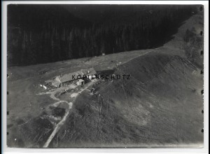 ZZ-1831/ Auer Alm am Tegernsee Foto seltenes Luftbild 1937 18 x 13 cm
