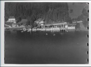 ZZ-1835/ Tegernsee Foto seltenes Luftbild 1938 18 x 13 cm