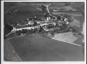 ZZ-1844/ Kloster Au am Inn Foto seltenes Luftbild 1938 18 x 13 cm