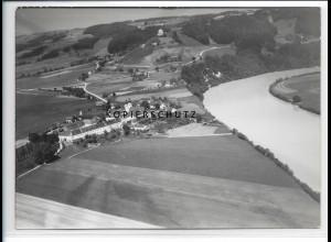 ZZ-1845/ Kloster Au am Inn Foto seltenes Luftbild 1938 18 x 13 cm