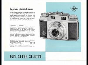 C3447/ Agfa Super Silette Kamera Fotoapparat Werbeblatt Reklame ca.1955