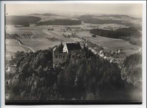 ZZ-5481/ Waldburg seltenes Foto Luftbild 18 x 13 cm