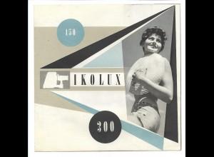 C3444/ IKOLUX 15 u. 300 Heimprojektor Wertbung Reklame Faltblatt ca.1955-60