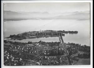ZZ-1917/ Lindau am Bodensee Foto seltenes Luftbild 1936 18 x 13 cm