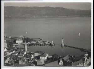 ZZ-1918/ Lindau am Bodensee Foto seltenes Luftbild 1936 18 x 13 cm