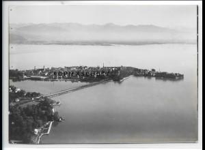 ZZ-1919/ Lindau am Bodensee Foto seltenes Luftbild 1936 18 x 13 cm