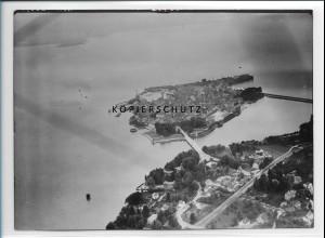 ZZ-1920/ Lindau am Bodensee Foto seltenes Luftbild 1939 18 x 13 cm