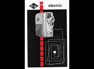 C3441/ Eumig p8 Kino-Kamera Werbung , Faltblatt ca.1955-60