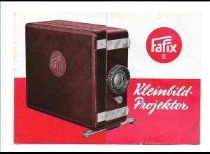 Y15546/ Fafix II Kleinbild-Projektor Werbung Reklame Faltblatt ca.11955-60