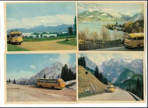 Y17748/ 8 x AK Fahrten mit der Kraftpost Postbus Omnibus ca.1955