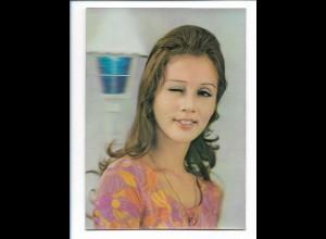 Y17743/ 3 D AK Augen zwinkern, junge Frau , Winky Girl