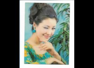 Y17744/ 3 D AK Augen zwinkern, junge Frau , Winky Girl