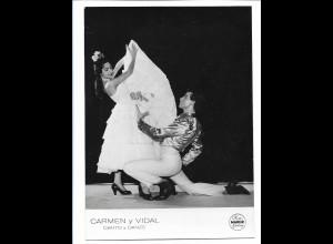 C3883/ Carmen y Vidal Photo Mahler Tanzen Variete Foto 18 x 13 cm ca.1955