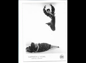 C3884/ Carmen y Vidal Photo Mahler Tanzen Variete Foto 18 x 13 cm ca.1955