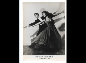 C3887/ Annita and Sakis Johnson Tanzen Variete Foto 18 x 13 cm ca.1955