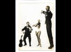 C3875/ Trio Vedette Artisten Variete Zirkus Foto 18 x 13 cm ca.1955