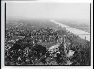ZZ-5245/ Breisach am Rh. Foto seltenes Luftbild 18 x 13 cm ca.1938