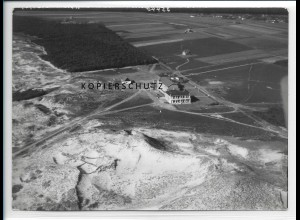 ZZ-2038/ Nebel auf Amrum Kinderheim seltenes Luftbild 1939 18 x 13 cm