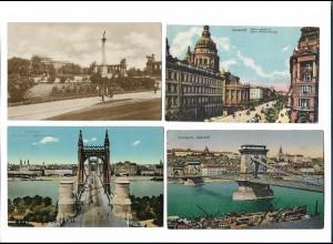 Y17842/ 4 x AK Budapest Ungarn 1912-22