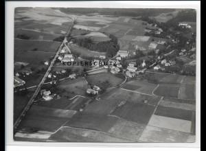 ZZ-2122/ Lichtenberg (Białogórze) Schlesien seltenes Luftbild 1938 18 x 13cm