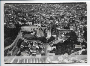 ZZ-2172/ Erfurt seltenes Luftbild 1937 18 x 13 cm