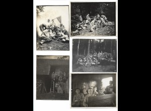 Y15514/ 9 x Foto Pfadfinder ca.1930