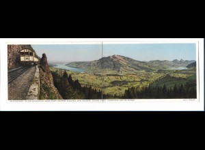 Y17851/ Arth-Rigi-Bahn Klappkarte Schweiz Bergbahn
