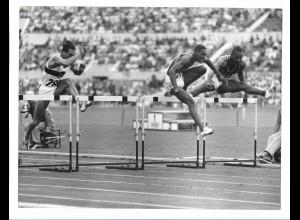 C3900/ Olympiade Rom 1960 110 m Hürden Calhcoun, May USA + Lauer Foto 24 x 18cm