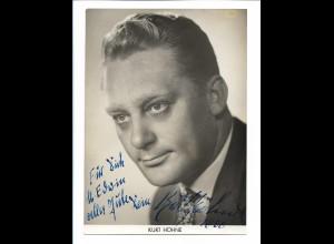 C4021/ Kurt Höhne Autogramm Foto 18 x 13 cm 1960