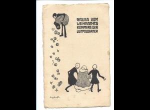 Y18535/ München Gruß vom Weihnachts-Kommers der Luitpoldianer Künstler AK 1906