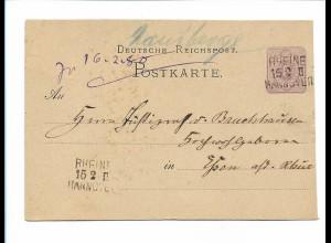 Y17846/ Bahnpost Rheine Hannover ca.1880