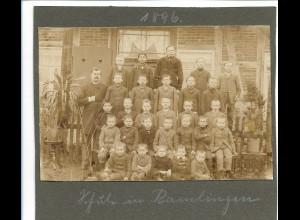 C3893/ Schule in Ramlingen Schulklasse Foto 1896 15 x 10 cm