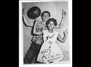 C3891/ Schauspielerin Toxi und Clown Ball Riccos mit Autogramm Foto 17,5 x 13 cm