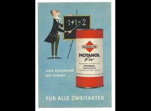 C3670/ Gasolin Montanol ca.1960 Werbung Werbeblatt Frosch