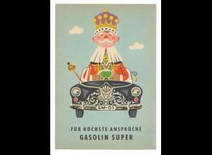 C3669/ Gasolin ca.1960 Werbung Werbeblatt Frosch