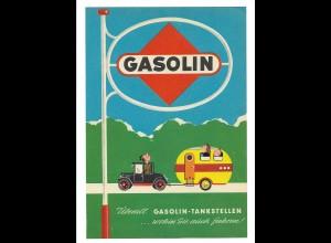 C3668/ Gasolin ca.1960 Werbung Werbeblatt Frosch