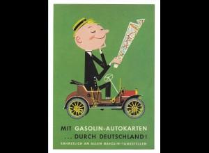 C3665/ Gasolin Benzol ca.1960 Werbung Werbeblatt Frosch